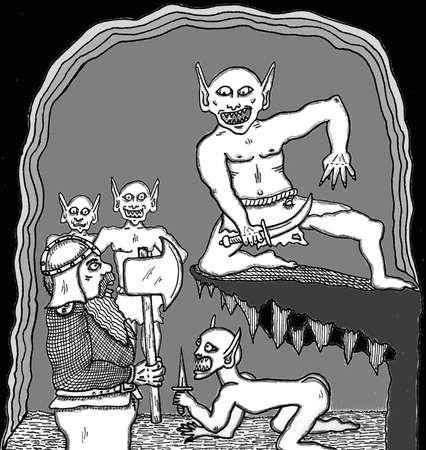 dwarf: Dwarf vs. Gremlins Illustration