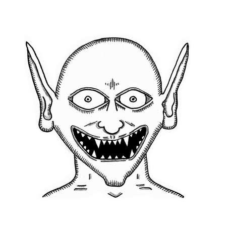 Gremlin  Grin Illustration