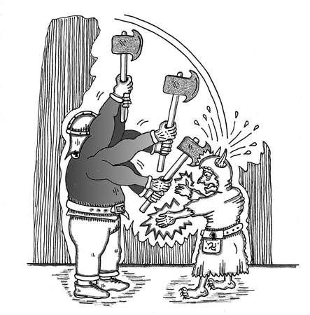 Dwarf Axe Attack Illusztráció