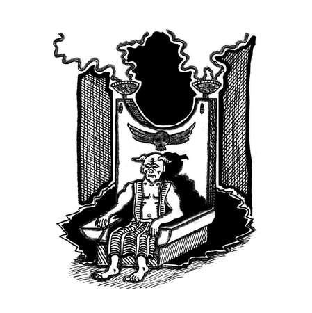 Arch-Demon on Throne
