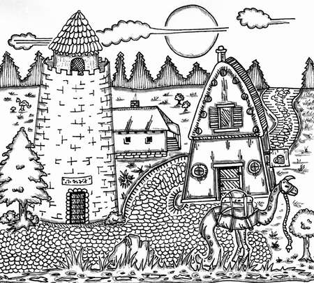 inn: Village Inn Illustration