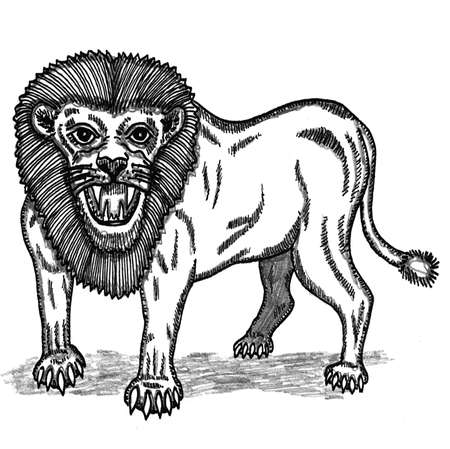 impervious: Nemean Lion Illustration