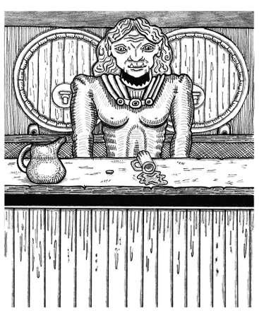 Barmaid Brigid the half Orc Çizim