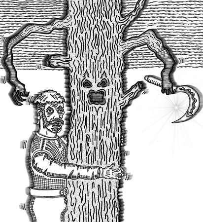 Delver 대 나무 일러스트