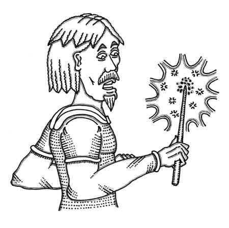 rogue: Wizard Wand Illustration
