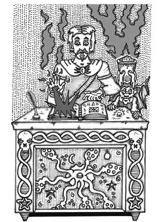 Assistent Zauberbuch Standard-Bild - 53988897