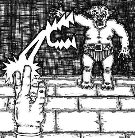 spell: Wizard Spell On Monster
