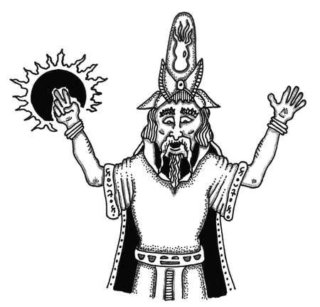 Old Human Wizard Illusztráció