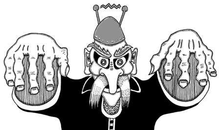 Crazy Wizard Illusztráció