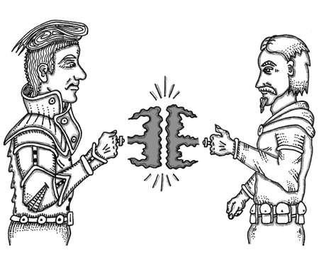 마법 반지 전투 스톡 콘텐츠 - 57855188