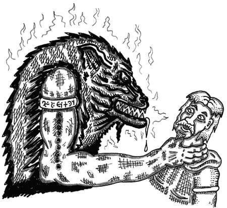 악마 그립 스톡 콘텐츠 - 57855194