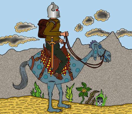 Warrior & Mount Ilustração
