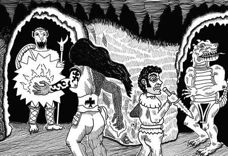 adventurers: Spells & Weapons Illustration