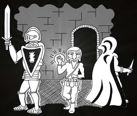 Delving Group Ilustração