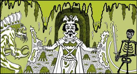 마법사 동굴 Colorized 스톡 콘텐츠 - 72520487