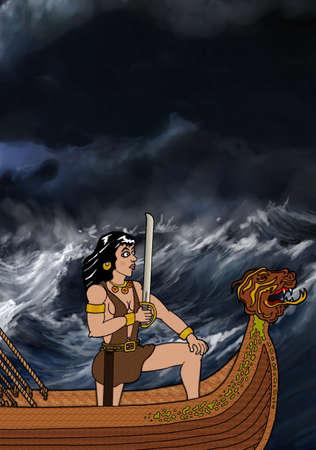 Lady Pirate Ilustracja