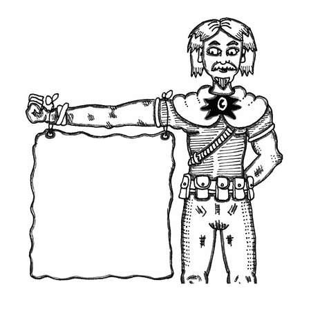 Wizard Arm Banner Çizim