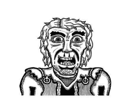 Surprised Man Illustration