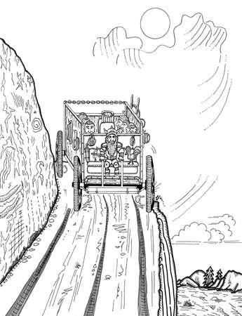드워프 블 랜더 버스 차량