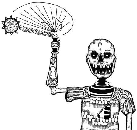 Skeleton with Morning Star