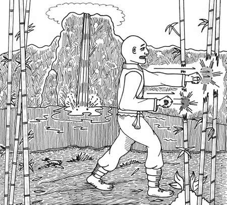 Kung Fu Bamboo Fist Traning