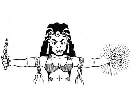 Wizard Woman Illustration