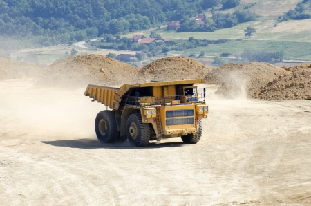 duty: Dump truck in the quarry