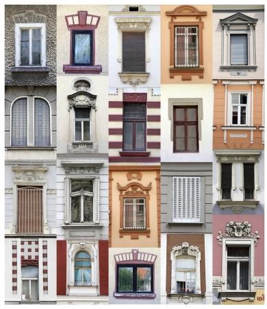 belgrade: Belgrade windows Stock Photo