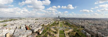 Panoramic view at Paris, France photo