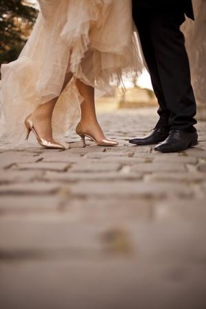 wedding suit: Wedding couple Stock Photo