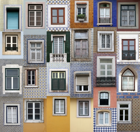 Lisbon windows Stock Photo - 15978924