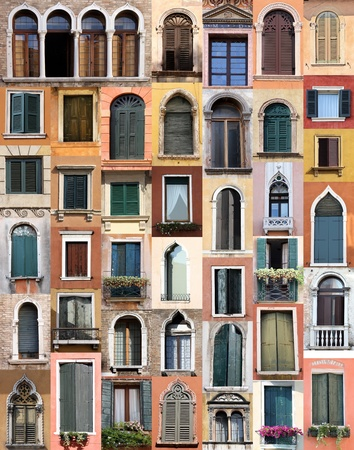 Windows from Venice, Italy photo