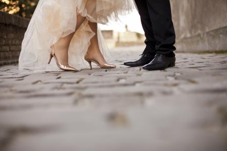 groom and bride: Wedding couple Stock Photo