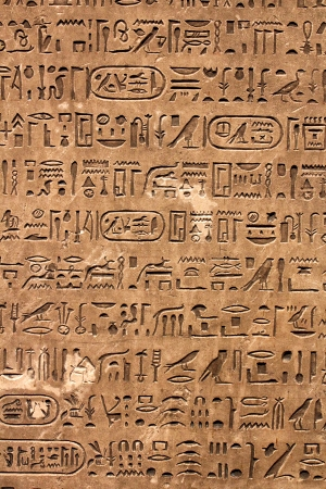 ancient civilization: Ancient egyptian hieroglyphics on the wall