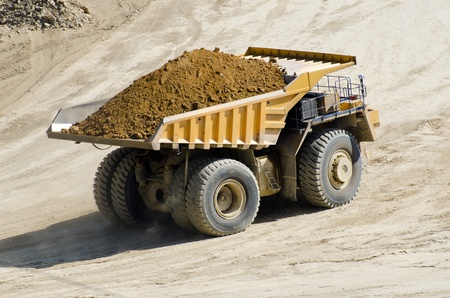 heavy duty: Dump truck in the quarry