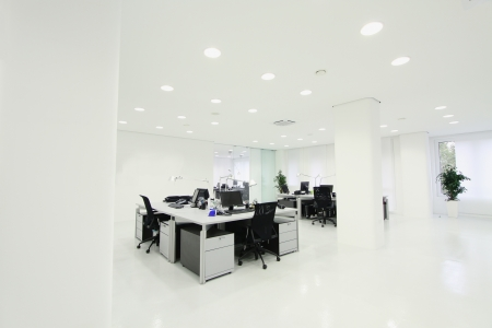 screen partition: Interior of the modern office Stock Photo