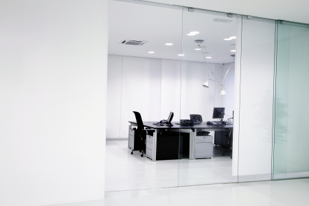glass partition: Interior of the modern office Stock Photo