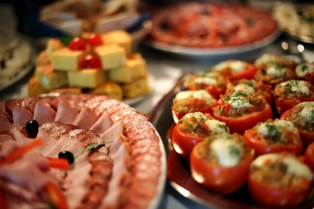 buffet lunch: Food in restaurant Stock Photo