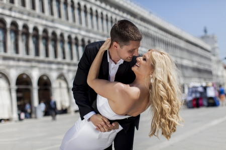 Loving couple in Venice photo