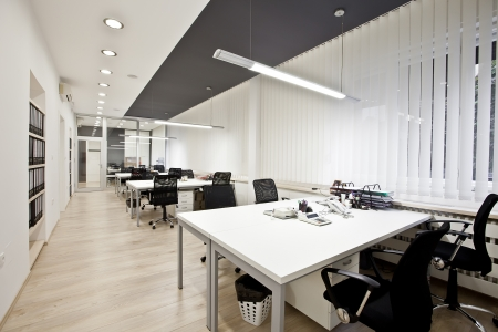 Interior of the modern office Imagens