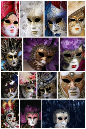 Traditional Venice carnival masks photo