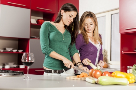Young women in the kitchen Stock Photo - 17139022
