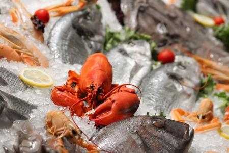fish store: Mariscos Foto de archivo