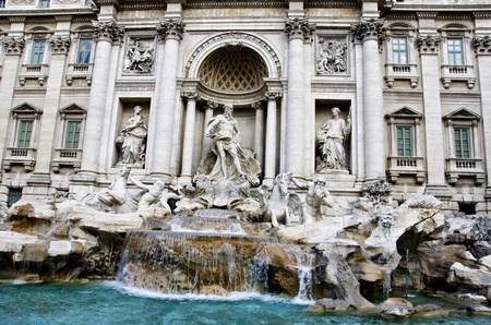Trevi Fountain in Rome, Italy photo