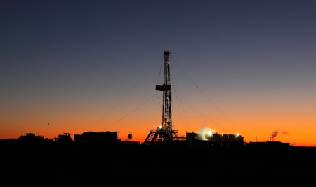 drilling well: Oil well Stock Photo