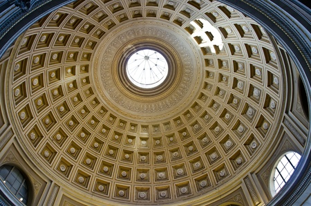 Rome, Italy, October 14, 2011, Interior of the Pantheon in Rome, Italy