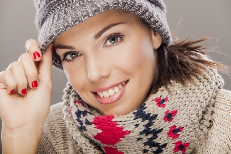 Young woman in winter clothes Stock Photo - 17281089