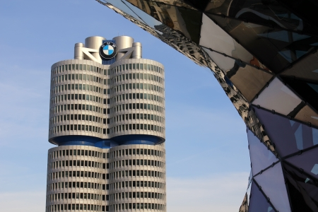 Munich, Germany - October 28, 2011: BMW Headquarters in Munich, Germany