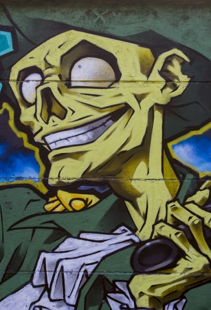 Novi Sad, Serbia - November 11, 2012: Detail of the graffiti on the wall in Novi Sad, Serbia