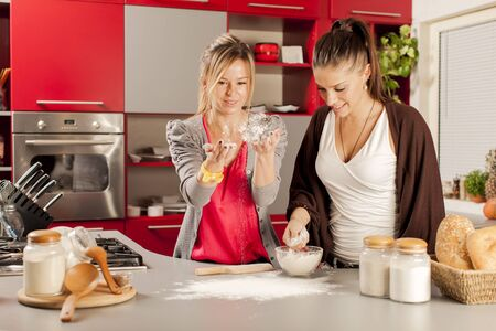 Young women in the kitchen Stock Photo - 18455275